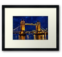 Glow of the night  Framed Print