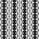 Dividing Cells Black and White Pattern by taiche