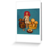 Amber Faerie Doll Greeting Card