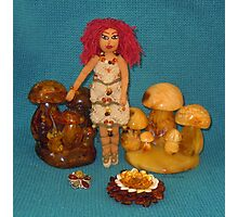 Amber Faerie Doll Photographic Print
