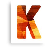 Letter K - Wood Canvas Print