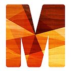 Letter M - Faux Bois (wood) Initial by TabithaBianca