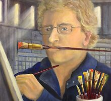 A Portrait of the Artist at Work by Randy  Burns