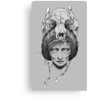 Skull Queen  Canvas Print