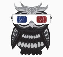 Owl - 3D Glasses - Black Kids Clothes