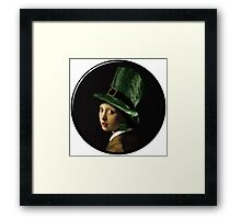 The Girl With the Shamrock Earring Framed Print