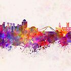 Coventry skyline in watercolor background by paulrommer