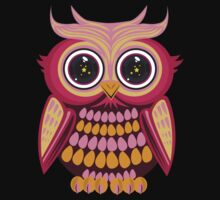 Star Eye Owl - Pink Orange 2 Kids Clothes