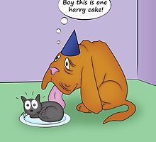 Blind Dog Birthday by jkartlife