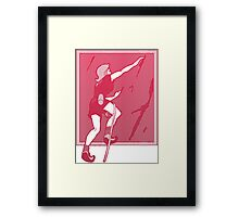 Rock Climbing Woman Abstract Framed Print
