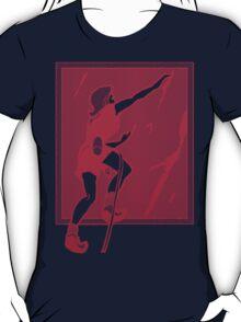 Rock Climbing Woman Abstract T-Shirt