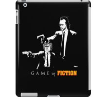 Game of fiction (with text) iPad Case/Skin