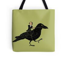 Edgar Allan Poe and Raven Tote Bag