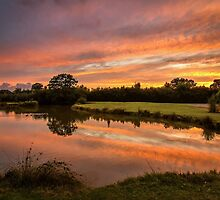 Mirrored Sunset by Mike Garner