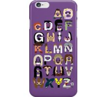 Horror Icon Alphabet iPhone Case/Skin