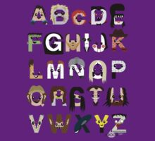 Horror Icon Alphabet T-Shirt