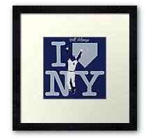"""""""I will always LOVE NY"""" Derek Jeter Framed Print"""