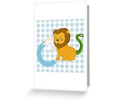 c for chimera Greeting Card