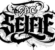 'Epic Selfie' Black Goth Tattoo Hand Lettering  by 26-Characters