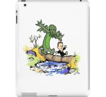H.P. and Cthulhu iPad Case/Skin