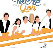 Friends I'll Be There For You Silhouette Poster by ImEmmaR