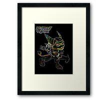 Ratchet & Clank Glow Design Framed Print