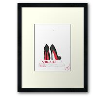 Louboutins and Vogue Framed Print