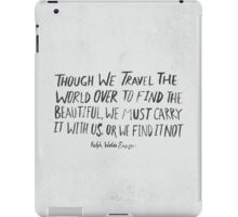 Ralph Waldo Emerson: Beautiful iPad Case/Skin