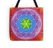 Sunny Flower of Life Tote Bag