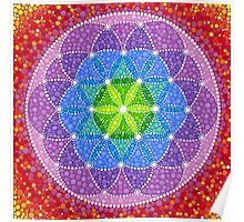 Sunny Flower of Life Poster