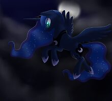 My little Pony: Friendship is Magic - Princess Luna - Night Flight by FalakTheWolf