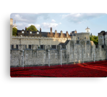 Poppies at The Tower Canvas Print