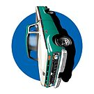 1966 Ford F100 Teal & White - iPhone Case by OldDawg