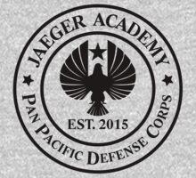 Jaeger Academy logo in black! by mekb