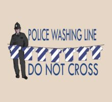police washing line do not cross  by IanByfordArt