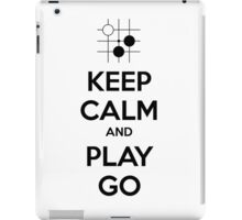 Keep Calm and Play Go iPad Case/Skin