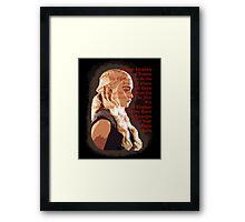 Daenerys Targaryen Titles - Game of Thrones Framed Print