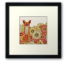 garden fox Framed Print