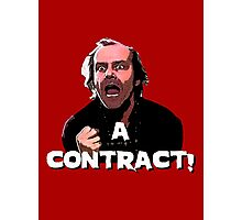 A CONTRACT! The Shining Photographic Print