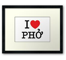 I Heart (Love) Phở Framed Print