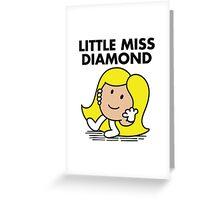 Little Miss Diamond Greeting Card