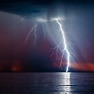 Lightning from Somerton Beach by pablosvista2