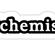 Chemist - Hashtag - Black & White Sticker