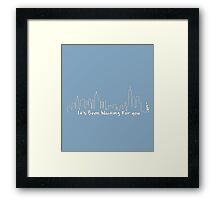 Welcome to New York Framed Print