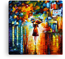 rain princess - Leonid Afremov Canvas Print