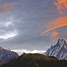 Sunrise over Machapucchare by Harry Oldmeadow