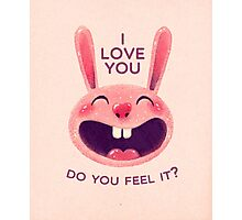 Bunny with love Photographic Print