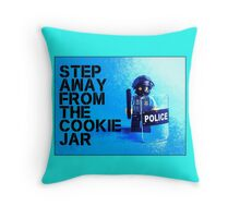 Step away from the cookie jar, by Tim Constable Throw Pillow