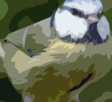 "Birds story, "" fawn paint Picasso ! "" 24 (c) (h) the Blue Tit - Olao-Olavia by Okaio Créations  Sticker"