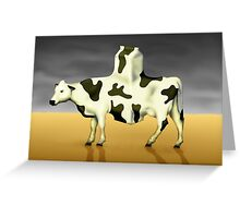 SURREALISM - Cow Product  Greeting Card